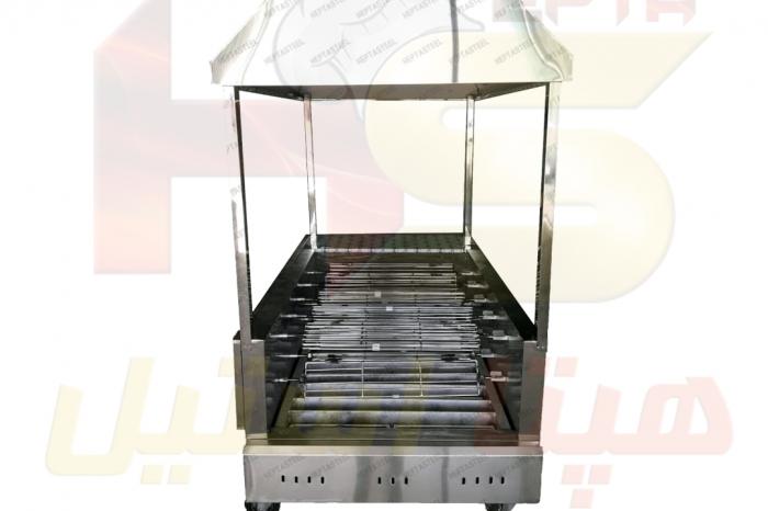 دستگاه جوجه گردان ذغالی هپتااستیل