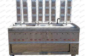 دستگاه کباب ترکی ایستاده هپتااستیل در دسته تجهیزات پخت فست فود قرار دارد